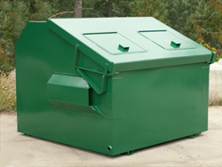4 cubic yard front load dumpster collage