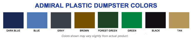 cubic yard dumpster colors
