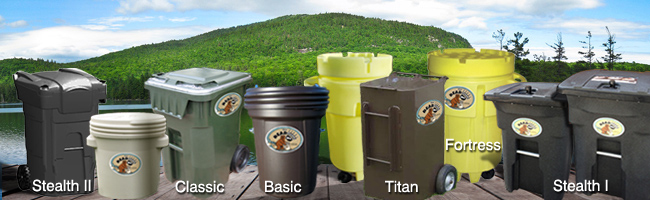 Animalproof and bearproof garbage can collection from