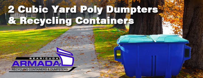 armada 2 cubic yard plastic recycling container or dumpster