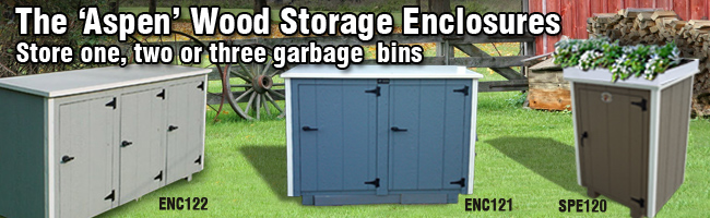 Wooden Trash Storage Bins