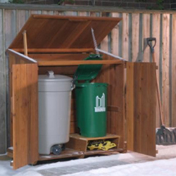 Gentil Wood Garbage Can Storage