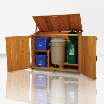 Wooden Garbage Bin Plans