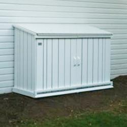 Wood Garbage Can Storage