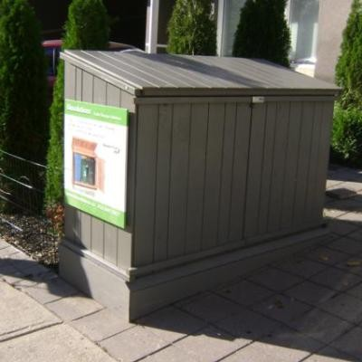 Good Wood Garbage Can Storage. BIN104. BIN105