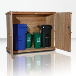 Outdoor Wooden Garbage Can Storage Bin Provide Attractive Waste