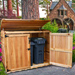Curved top wood bins