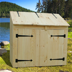 ... Trash Sheds : Cedar Outdoor Storage Sheds For Trash Can And Recycling  ...