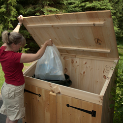 Cedar Outdoor Storage Sheds For Trash Can And Recycling