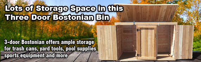 Large 3 door storage bin