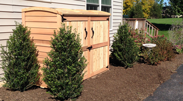 Cedar Outdoor Garbage Can Storage Bins