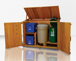 Cedar Garbage Can Storage Plans
