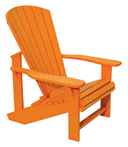 Orange Adirondack Chair
