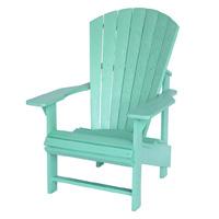 Aqua Adirondack Chair