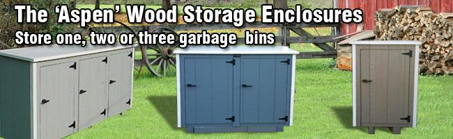 Wooden Trash Garbage Storage Bins From Bearicuda