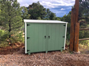 Bearicuda Aspen outdoor Storage Bin Enclosure Avocado