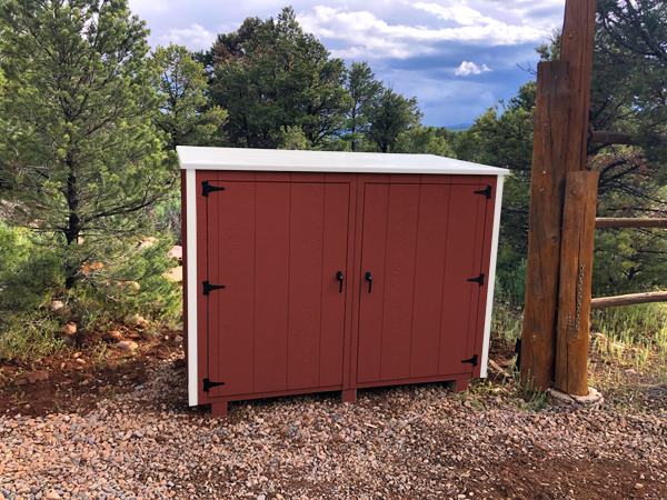 Bearicuda Aspen outdoor Storage Bin Enclosure Red