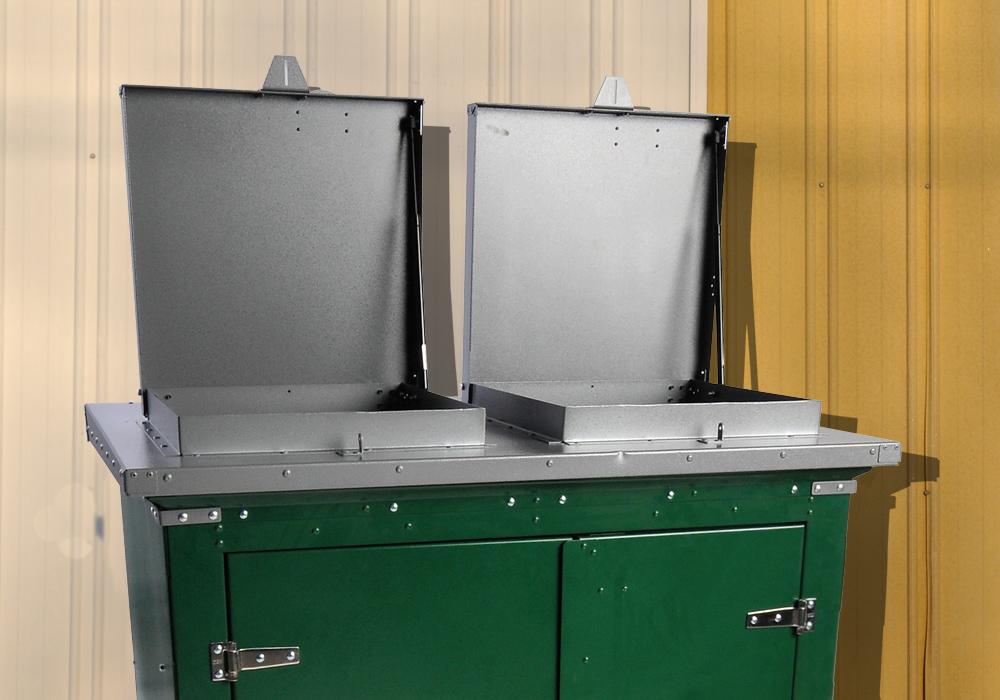 Metal Trash Can Storage Enclosures For Businesses Parks