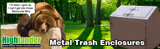 Bear proof Trash Metal Enclsoure
