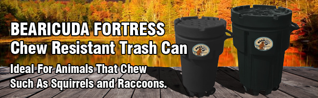 Fortress bearproof trash can
