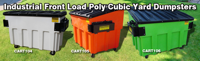 front load cubic yard container