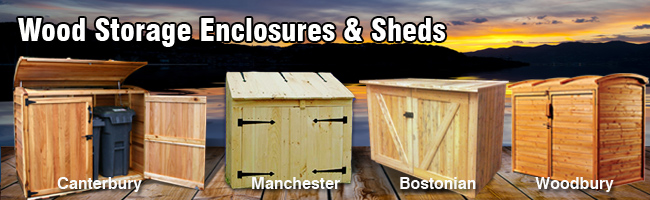 wood storage enclosures