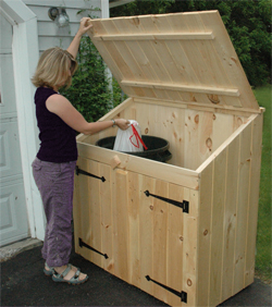 Cedar Outdoor Storage Sheds For Trash Can and Recycling ...
