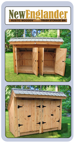 Large Rustic Outdoor Wood Storage Bin