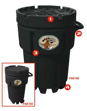 A Bear Proof Trash Can That Is Indestructible