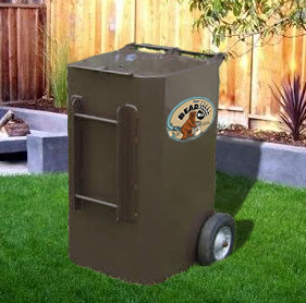 Titan Metal Animal Proof Trash Can