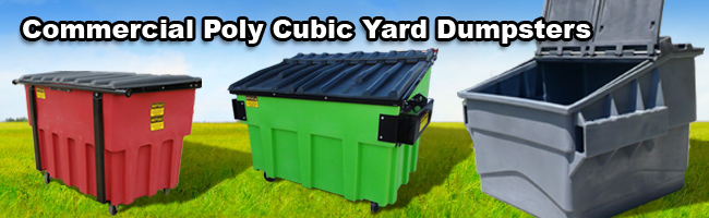 Commercial cubic yard container