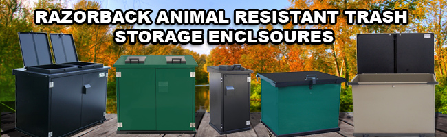 razorback metal trash storage enclosures