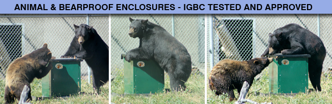 IGBC bearproof tested metal trash  enclosures