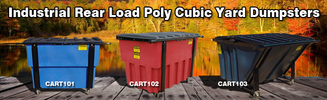 rear load cubic yard container