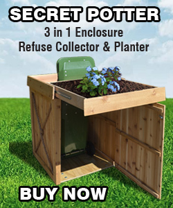 Outdoor Wooden Garbage Can Storage Bin Provide Attractive