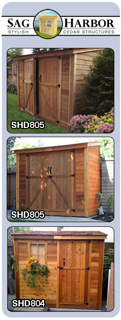 outdoor wooden storage shed