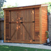 trash can storage shed