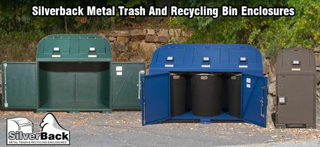 Metal Garbage Can Storage Units