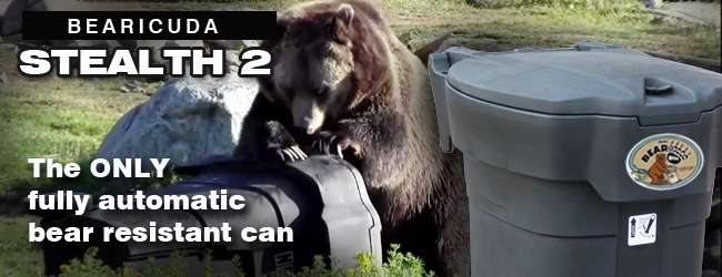 Bearproof trash can