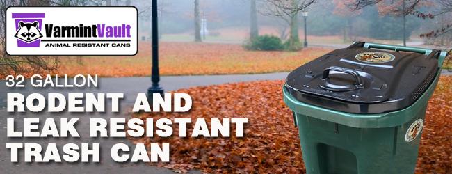 32 Gallon Animal Resistant Trash Can