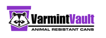 Varmint Vault Animal proof Can logo